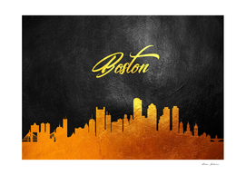 Boston Massachusetts Gold Skyline