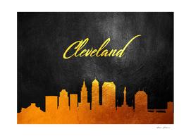 Cleveland Ohio Gold Skyline