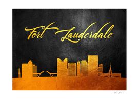 Fort Lauderdale Florida Gold Skyline