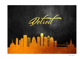 Detroit Michigan Gold Skyline