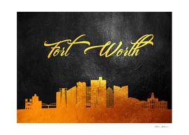 Fort Worth Texas Gold Skyline