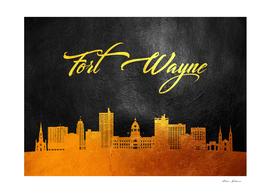 Fort Wayne Indiana Gold Skyline