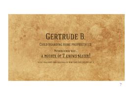 Gertrude's Business Card