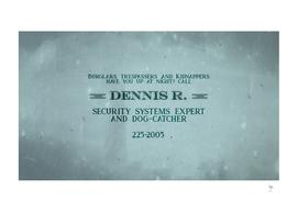 Dennis' Business Card