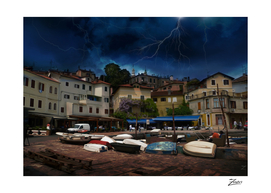 Lightning Over Volosca