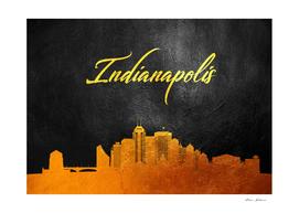 Indianapolis Indiana Gold Skyline