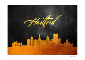 Hartford Connecticut Gold Skyline