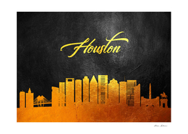 Houston Texas Gold Skyline