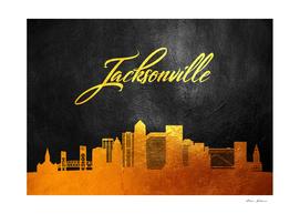 Jacksonville Florida Gold Skyline