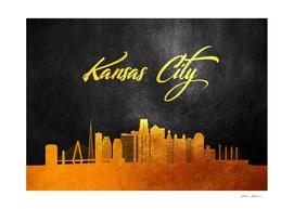 Kansas City Missouri Gold Skyline