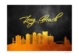 Long Beach California Gold Skyline
