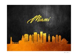 Miami Florida Gold Skyline