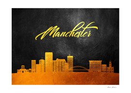 Manchester New Hampshire Gold Skyline
