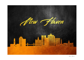 New Haven Connecticut Gold Skyline