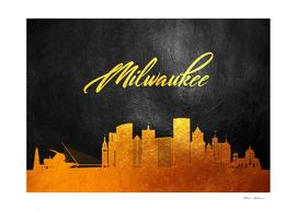 Milwaukee Wisconsin Gold Skyline