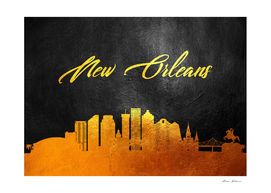 New Orleans Louisiana Gold Skyline