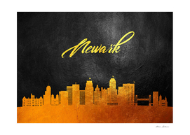 Newark New Jersey Gold Skyline