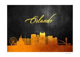 Orlando Florida Gold Skyline