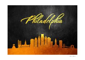 Philadelphia Pennsylvania Gold Skyline