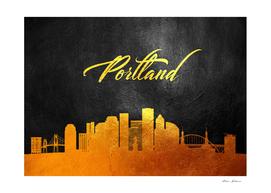 Portland Oregon Gold Skyline