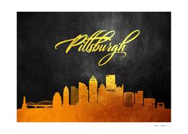 Pittsburgh Pennsylvania Gold Skyline