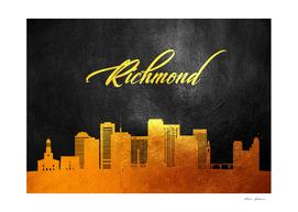 Richmond Virginia Gold Skyline