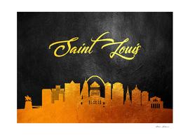 Saint Louis Missouri Gold Skyline
