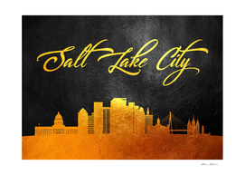 Salt Lake City Utah Gold Skyline