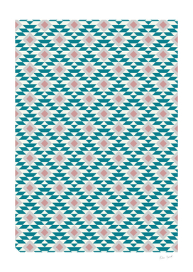 Abstract Geometric Pink and Green Retro Pattern 03