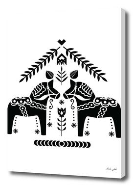 Scandi Folk Dala Horse