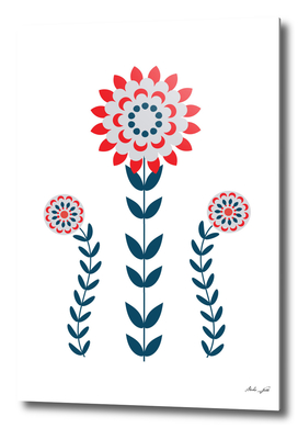 Scandi Folk Flowers