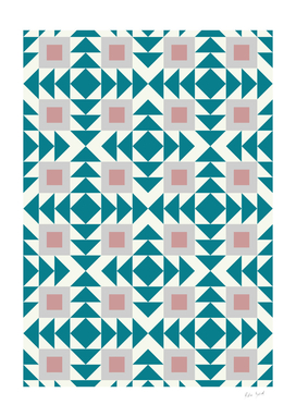 Abstract Modern Geometric Pink and Green Retro Pattern 04