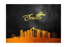 Seattle Washington Gold Skyline
