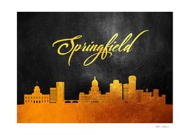 Springfield Illinois Gold Skyline