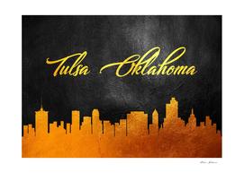 Tulsa Oklahoma Gold Skyline