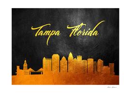 Tampa Florida Gold Skyline