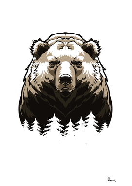 American black bear grizzly bear vector graphics Cart