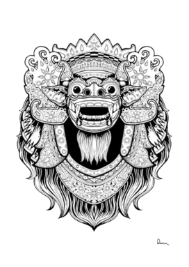 Balinese art barong drawing bali
