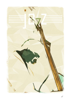 Contrabassist. Jazz Club Poster