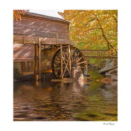 Grist Mill by Lake