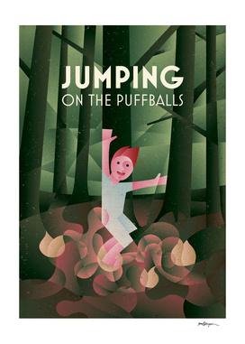 JUMPING ON THE PUFFBALLS