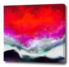 Abstract in Red, White and Purple