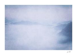 Sacred Cove Shrouded in Blue Mist