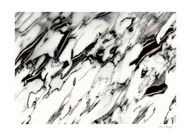 Classic White Marble Rose Gold Foil Glam #1 #marble #decor