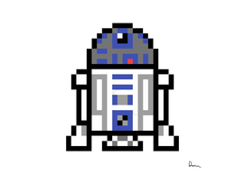 R2d2 Pixel Art