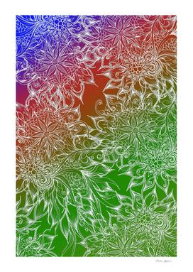 Gradient Floral Pattern