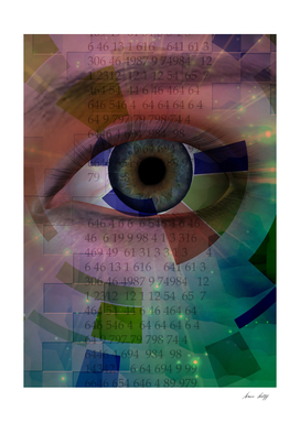 Eye with Numerical Sequence