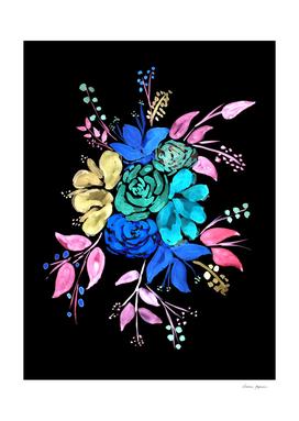 Neon Style Floral Bouquet