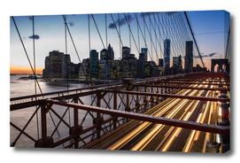 Sunset from the Brooklyn Bridge