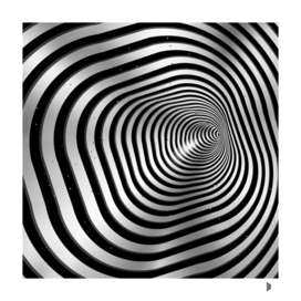 Square wormhole (b/w)